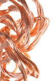Copper wire in abstract form Royalty Free Stock Photography