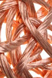 Copper wire in abstract form Royalty Free Stock Image