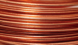 Copper wire background Royalty Free Stock Images