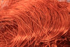 Copper wire background Stock Image