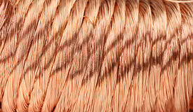 Copper wire. Big pile of copper wire Royalty Free Stock Image