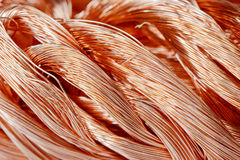 Copper wire. Big pile of copper wire close-up Stock Image
