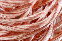 Copper wire close-up Royalty Free Stock Images