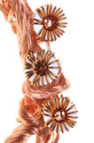 Copper wire with coils Royalty Free Stock Image