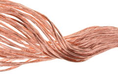 Copper wire. The concept of the energy industry Stock Image