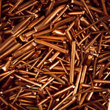 Copper wire. Is cut into pieces Stock Photos