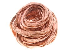 Copper wire. Isolated on white background Royalty Free Stock Photography