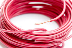 Copper wire line Royalty Free Stock Photography