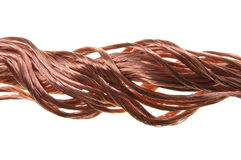 Copper wire power flow Royalty Free Stock Image