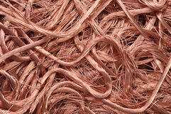 Copper wire recyclable materials Stock Photos