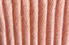 Copper wire red background Stock Image