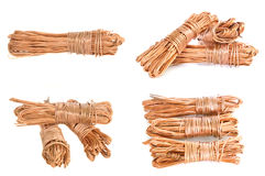 Copper wire. Set of rolled copper wire isolated on white Royalty Free Stock Images