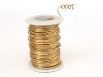Copper Wire spool Stock Photos