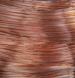 Copper wire. Spool in factory Royalty Free Stock Photography