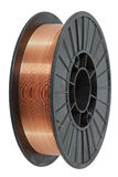 Copper wire on spool Royalty Free Stock Image