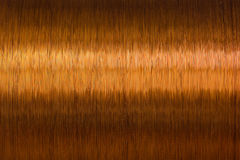 Copper wire spool texture metal Stock Photos