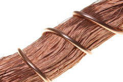 Copper wire, a symbol of growth and development in industry Royalty Free Stock Photos
