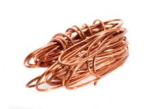 Copper. Wire  on white Royalty Free Stock Image