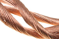 Copper wires Stock Images