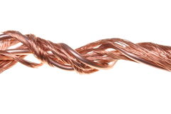 Copper wires Royalty Free Stock Images