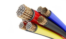 Copper wires Stock Image