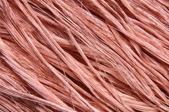 Copper wires background Royalty Free Stock Photo