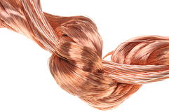 Copper wires Royalty Free Stock Image