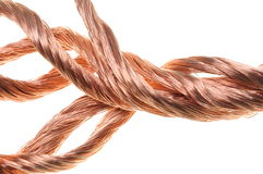 Copper wires Royalty Free Stock Photography