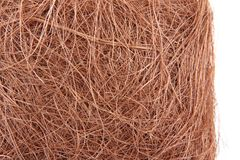 Copper wires texture. As nice abstract background Stock Photography