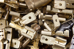 Coppered connectors Royalty Free Stock Image