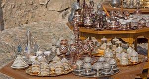 Copperwareherinneringen van Mostar in Bosnië-Herzegovina Royalty-vrije Stock Foto's