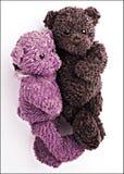 Coppia-bambino-orso-abbracciare Fotografia Stock