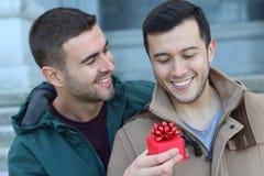 Coppia dello stesso sesso adorabile che divide affetto immagini stock libere da diritti