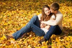 coppia i giovani felici Fotografia Stock Libera da Diritti