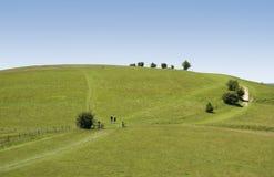 Coppia l'escursione della traccia ridgeway Immagine Stock