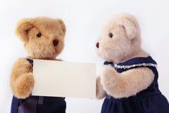 Coppia l'orso di orsacchiotto Fotografia Stock Libera da Diritti