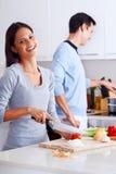 Cuoco in buona salute dell'alimento Fotografia Stock