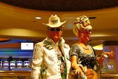 Coppia la statua dell'hotel e del casinò del ` la s Las Vegas di Harrah Fotografie Stock Libere da Diritti