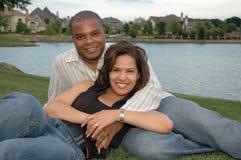 Coppia sposata felice 1 Fotografie Stock Libere da Diritti