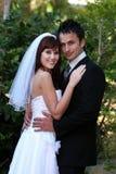 coppie all'aperto che wedding Fotografia Stock Libera da Diritti