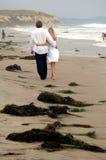 Coppie alla spiaggia Immagini Stock Libere da Diritti
