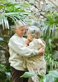 Coppie amorose dell'anziano Immagine Stock Libera da Diritti