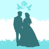 Coppie amorose di nozze Fotografie Stock