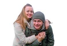 Coppie amorose felici Fotografia Stock Libera da Diritti