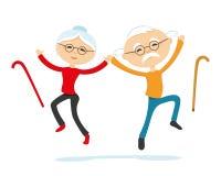 Coppie anziane energetiche royalty illustrazione gratis