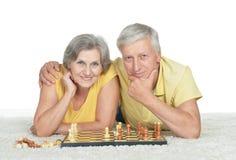 Coppie anziane felici Immagini Stock Libere da Diritti