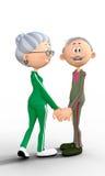 Coppie anziane felici Fotografia Stock Libera da Diritti
