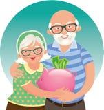 Coppie anziane pensionate Immagine Stock