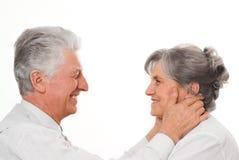 Coppie anziane piacevoli Immagine Stock Libera da Diritti