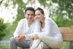 Coppie asiatiche felici Fotografie Stock